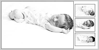 newborn album design