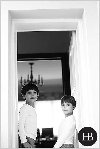 beautiful children's portraits in the home