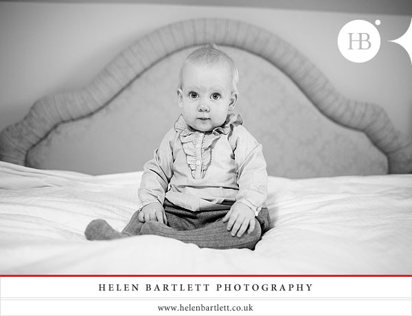 baby photography with nine month old twins