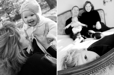 Playful family moments with parents and their two children