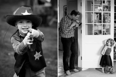 This boy has a sheriff's badge: which means permission to protect his family. Luckily, London photographer Helen Bartlett was on hand to capture the moment.