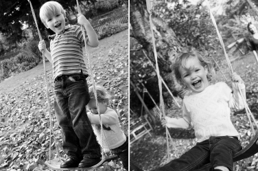 Swings are such an icon of childhood carefree days, they can play an important part in a family portrait shoot.