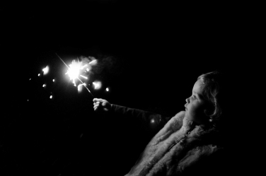 Sparklers and dark days - a more challenging place for a London portrait photographer.