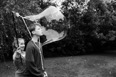Bubbles ahoy! Capturing the moment before the bubble bursts - this teen portrait is by Helen Bartlett.
