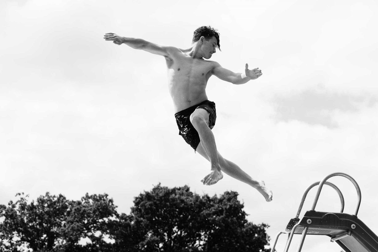 This teenager is caught mid-air by Canon Ambassador and portrait photographer Helen Bartlett. The airborne teen is captured showing his explosive energy, ready to unleash on the world.