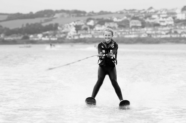 A waterskiing teenager is captured in her element by London portrait photographer Helen Bartlett.