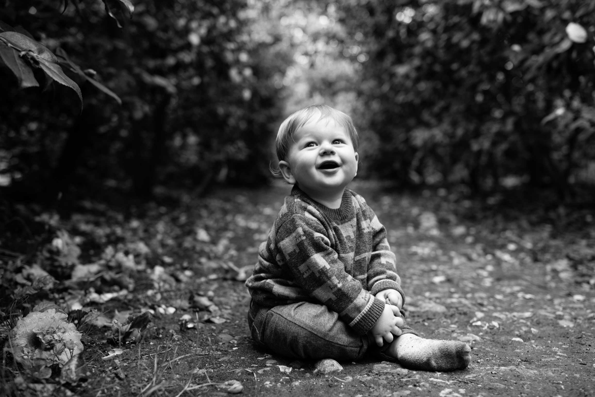 Baby photography in a Maida Vale park by baby photographer Helen Bartlett.