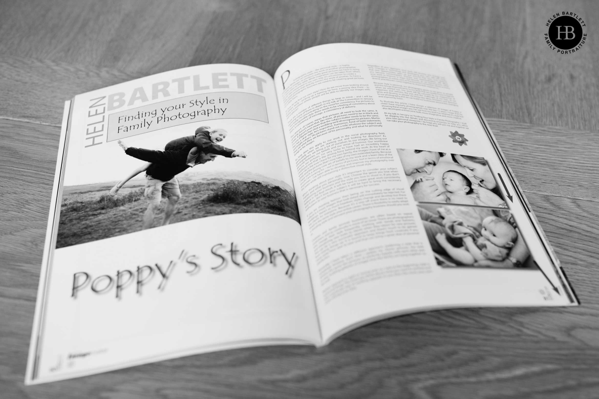 London fine art family photographer Helen Bartlett appears on the pages of Professional Imagemaker.