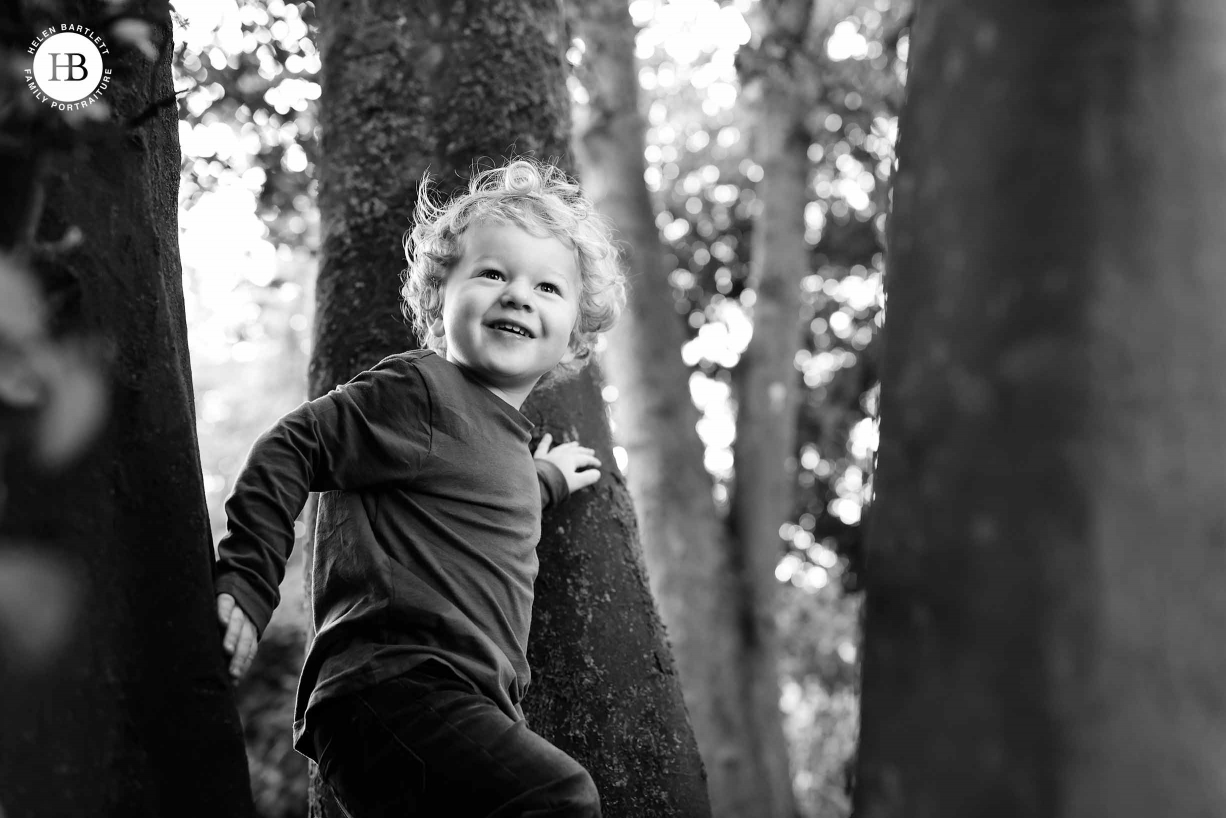 Boy in a tree shot with canon 1dx mark III
