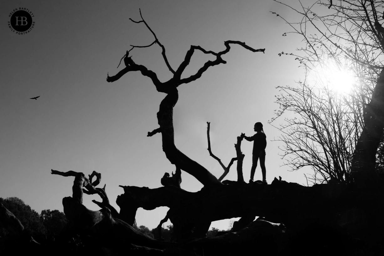 dramatic child portrait on hampstead heath