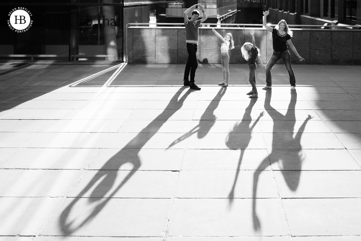 family make shadow patterns to show personality