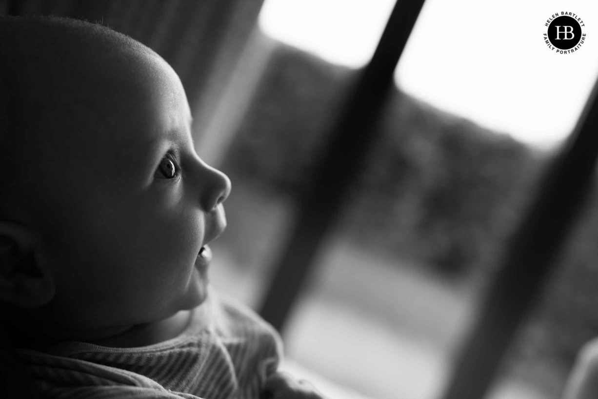 A baby portrait shot in clients east london home