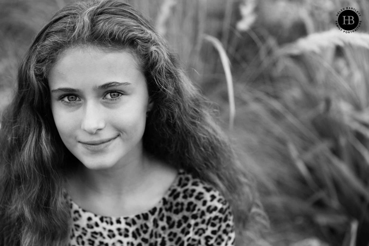 classic photographic portrait teenage girl kew gardens